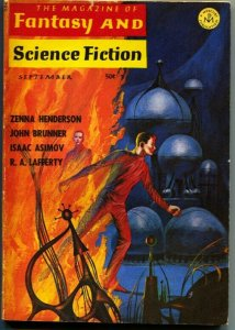 MAGAZINE OF FANTASY AND SCIENCE FICTION-Sept1966-Science Fiction Pulp Thrills