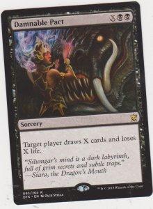 Magic the Gathering: Dragons of Tarkir - Damnable Pact
