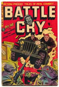 Battle Cry #11 1954-Opium cover- Golden Age War comic VG