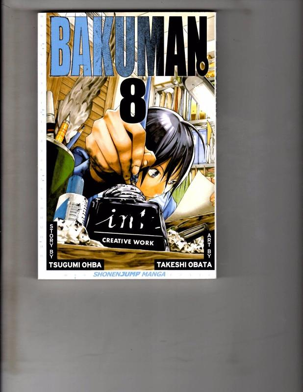 Bakuman Vol 8 TPB Manga Anime Bleach Naruto Dragonball Death Note WR1