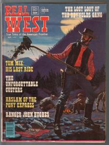 Real West 9/1975-Charlton-Tom Mix's Last Ride-Unforgettable Custers-FN