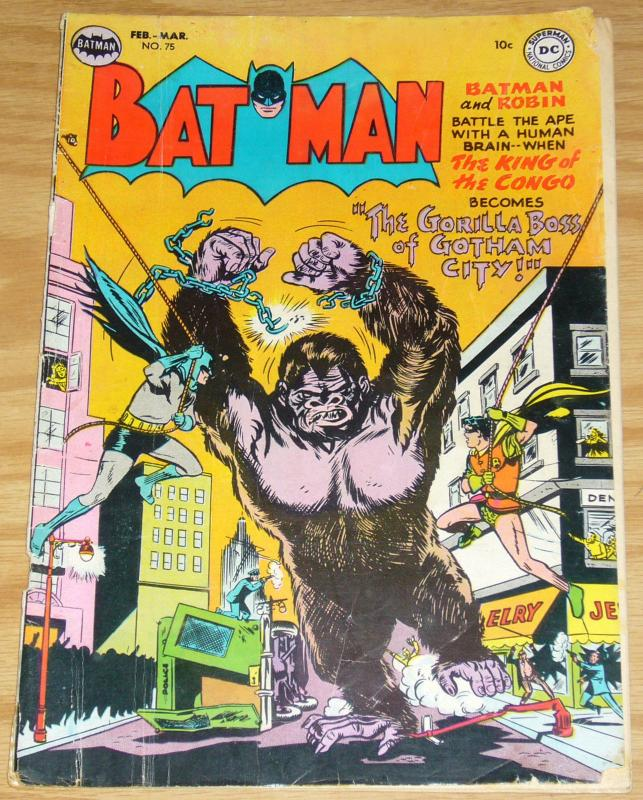 Batman #75 march 1953 - gorilla boss of gotham city - golden age dc comics robin