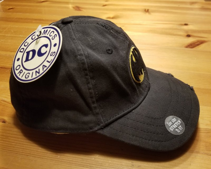 Drew Pearson Classic Distressed Batman Hat NOS w/ Tags One Size