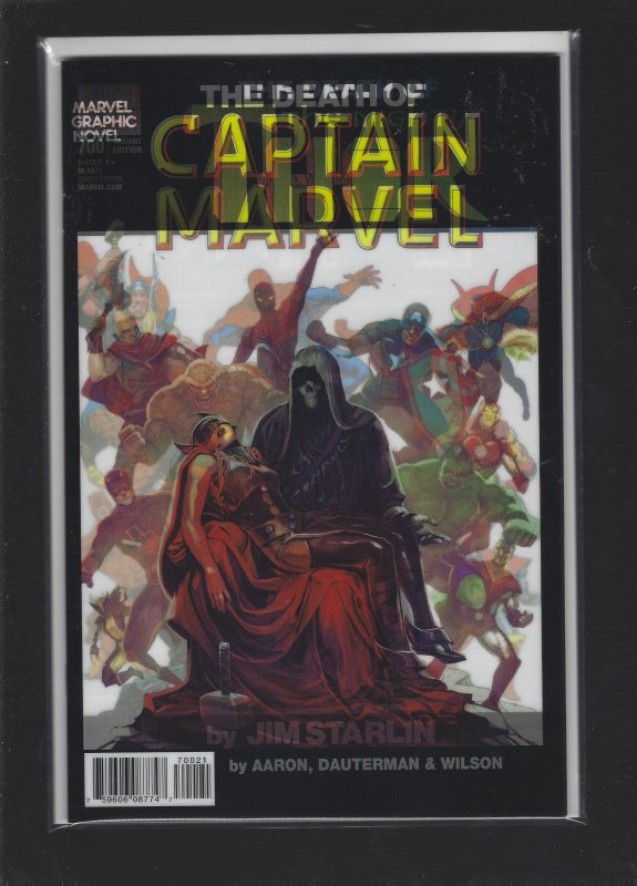 Death Of Captain Marvel Lenticular Cover