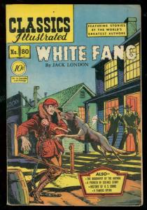 CLASSICS ILLUSTRATED #80 HRN 79-WHITE FANG-JACK LONDON FN-