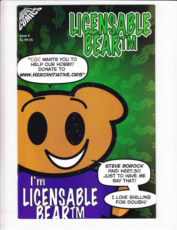 Licensable Bear #4 VF/NM high grade 1ST BARACK OBAMA IN COMICS +