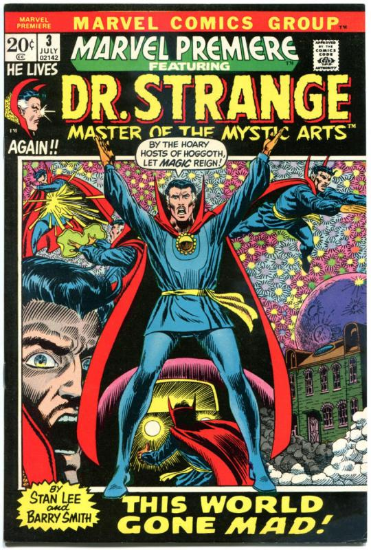 MARVEL PREMIERE #3, VF/NM, Dr Strange, Doctor, Barry Smith, 1972, Great Gloss