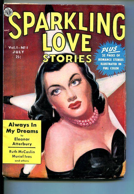 SPARKLING LOVE STORIES-#1-JULY 1950-PULP FICTION-SOUTHERN STATES PEDIGREE-vf