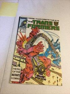 Transformers 35 Nm- Near Mint- Marvel Comics
