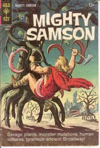 MIGHTY SAMSON 11 VG-F   August 1967 COMICS BOOK