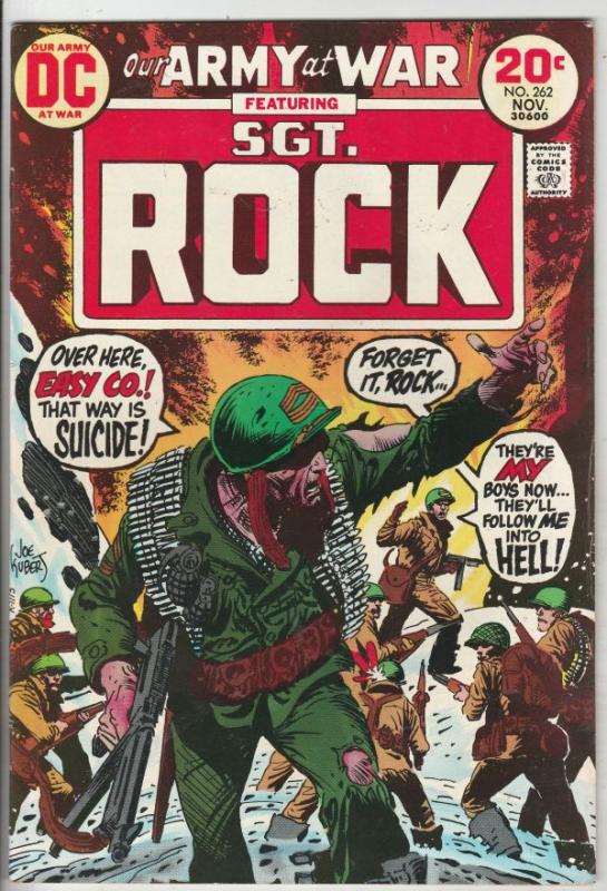Our Army at War #262 (Nov-73) VF+ High-Grade Easy Company, Sgt. Rock