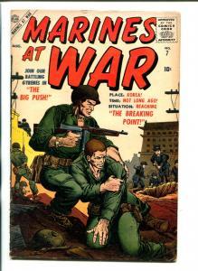 MARINES AT WAR #7-1957-ATLAS-LAST ISSUE-GENE COLAN ART-KOREAN WAR-vg