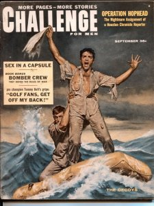 Challenge For Men 9/1958-Operation Hophead-Henry Botinoff-cheesecake-VG+