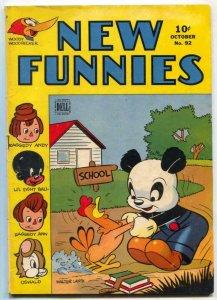 New Funnies #92 1944- Woody Woodpecker- VG/F