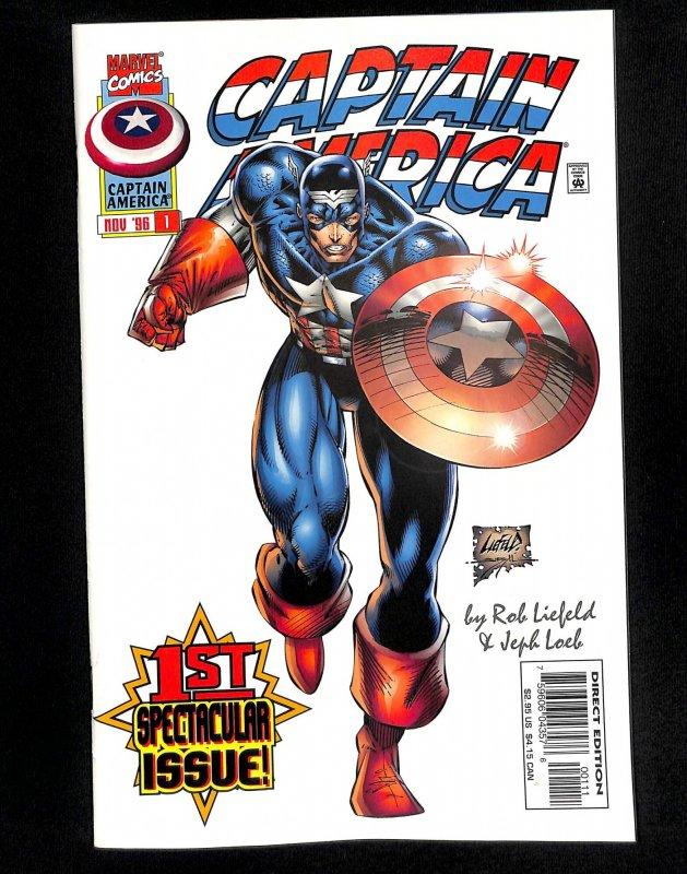 Captain America (1996) #1 1st Rikki Barnes!