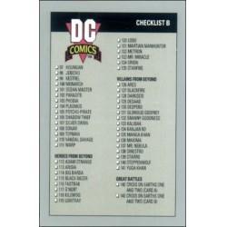 1991 DC Cosmic Cards - CHECKLIST B #180