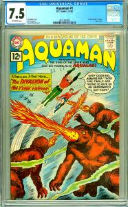 Aquaman #1 (CGC 7.5) O/W pages; 1st app. Quisp; Topo cameo; Nick Cardy