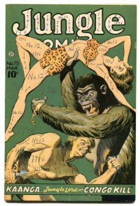 Jungle Comics #75 1946-Kaanga- Ape attack cover VG-