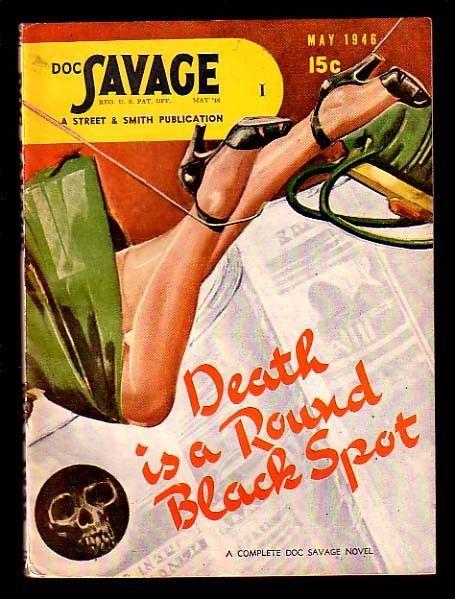 DOC SAVAGE-MAY 1946-SKULL COVER-SUPER ITEM!!! VF