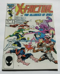 X-Factor #5 FN/VF White Pages Marvel Comic Book Cyclops 1st App Apocalypse