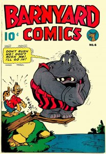 BARNYARD COMICS #6 (Sept'45) 7.0 FN/VF  Funny Animal Jolity!  Jim Tyer Cover!