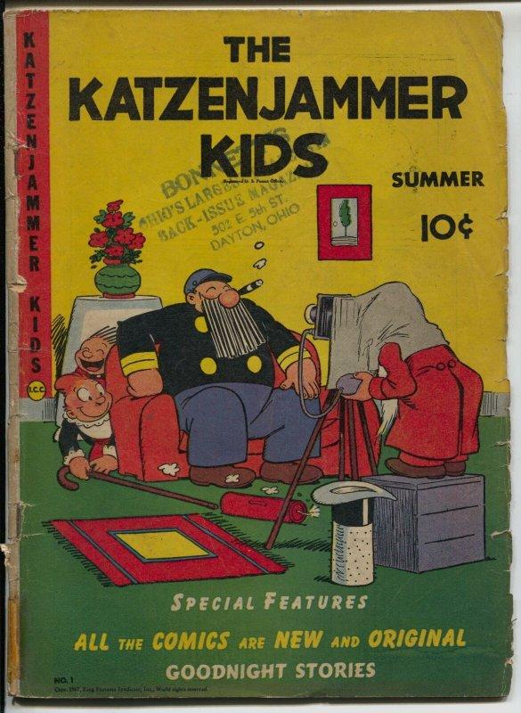 Katzenjammer Kids #1 1947-David McKay-fireworks cover-Blondie-Popeye-G