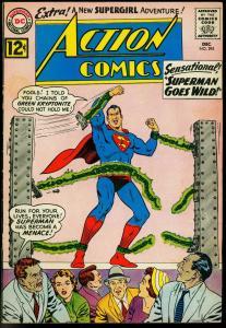 ACTION COMICS #295 1962-SUPERMAN GOES WILD-SUPERGIRL FN-