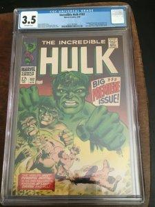 HULK #102 - CGC 3.5 - ORIGIN RETOLD - GREAT LOOKING COPY! - NICE FLAT COVER -