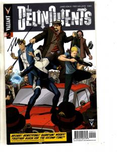 Delinquents # 2 NM 1st Print Valiant Comic Book SIGNED By Fred Van Lente MK2