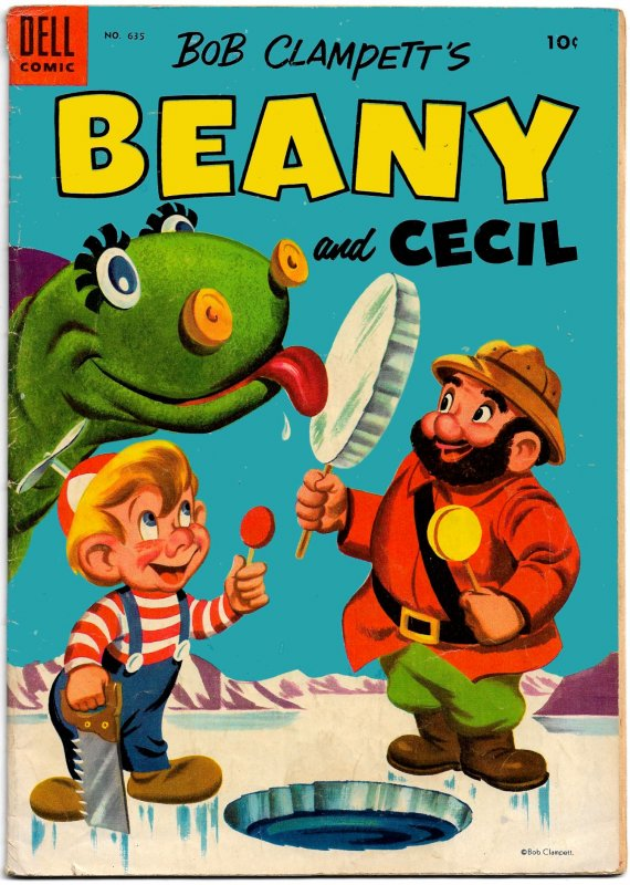 BEANY AND CECIL (Four Color #635)(1955) 8.0 VF  36 Pages of Jack Bradbury Art!