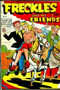 Freckles and His Friends #10 1949-Nedor-Merry-go-round-good art-VG