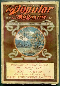 Popular Pulp Magazine November 7 1919- Secret City- Roy Norton