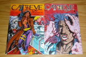 Catseye Agency #1-2 VF/NM complete series - rip off press bad girl set lot