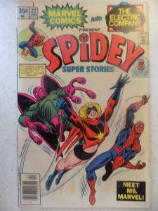 SPIDEY SUPER STORIES # 22 MARVEL ELECTRIC COMPANY MS MARVEL