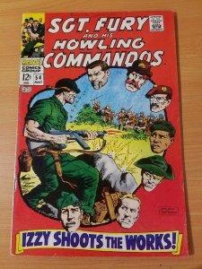 Sgt. Fury #54 ~ FINE FN ~ (1968, Marvel Comics)
