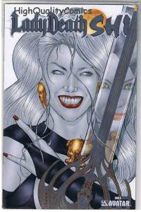 LADY DEATH : SHI #0, COA, NM, Limited, Platinum , Variant,, more LD in store