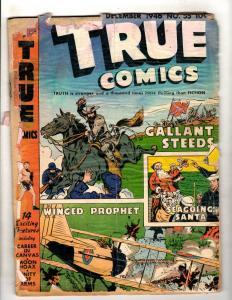 True Comics # 55 PR Goldn Age Comic Book 1946 Santa Civil War World War 2 JL16