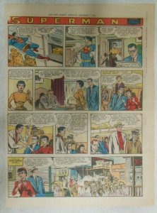 Superman Sunday Page #945 by Wayne Boring from 12/8/1957 Size ~11 x 15 inches