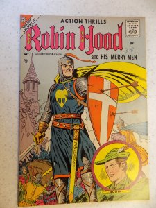 ROBIN HOOD AND HIS MERRY MEN # 37 CHARLTON SILVER SCARCE ACTION ADVENTURE 1958