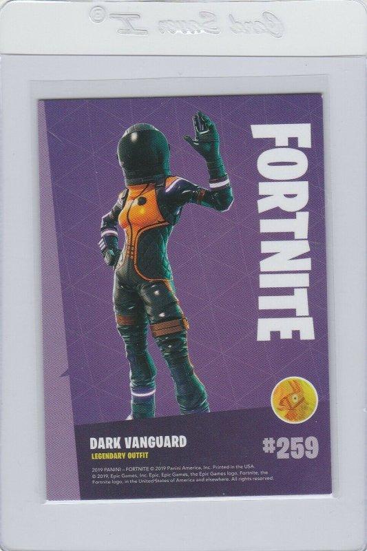 Fortnite Dark Vanguard 259 Legendary Outfit Panini 2019 trading card series 1