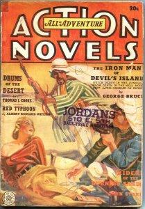 ALL-ADVENTURE ACTION NOVELS-SPG 1939-BONDAGE COVER-ARAB TERROR-RARE PULP