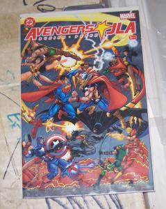 AVENGERS / JLA  book 2 busiek+ perez superman thor batman captain america