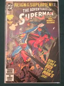 The Adventures of Superman #503 Reign of the Supermen