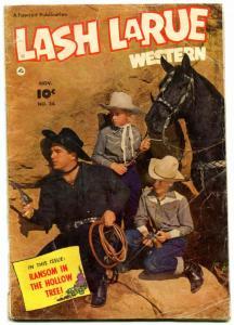 LASH LARUE WESTERN #34-1952-PHOTO COVER-vg