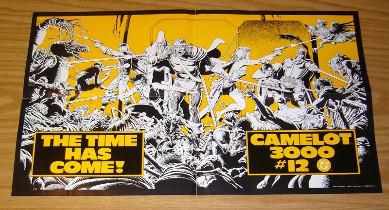 Camelot 3000 #12 poster - dc comics 1984 - brian bolland - 12.5 x 22