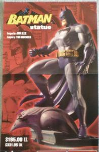BATMAN STATUE Promo poster, Jim Lee, 17x22, 2003, Unused, more Promos in store