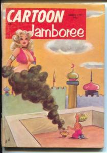 Cartoon Jamboree 8/1957-H-K-feamale genie-Bill Wenzel-cartoons-jokes-VG