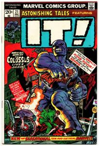 Astonishing Tales Featuring IT! #21 (Marvel, 1973) VF-