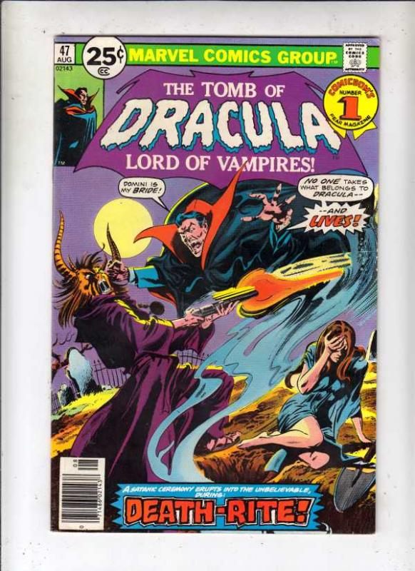 Tomb of Dracula #47 (Aug-76) VG/FN Affordable-Grade Dracula