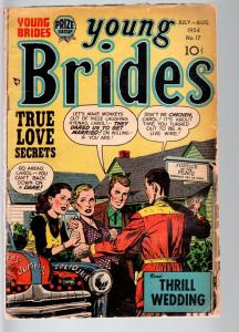YOUNG BRIDES #17-1954-PRODUCED BY SIMON & KIRBY-PHOTO COVER-PRIZE-FR/G